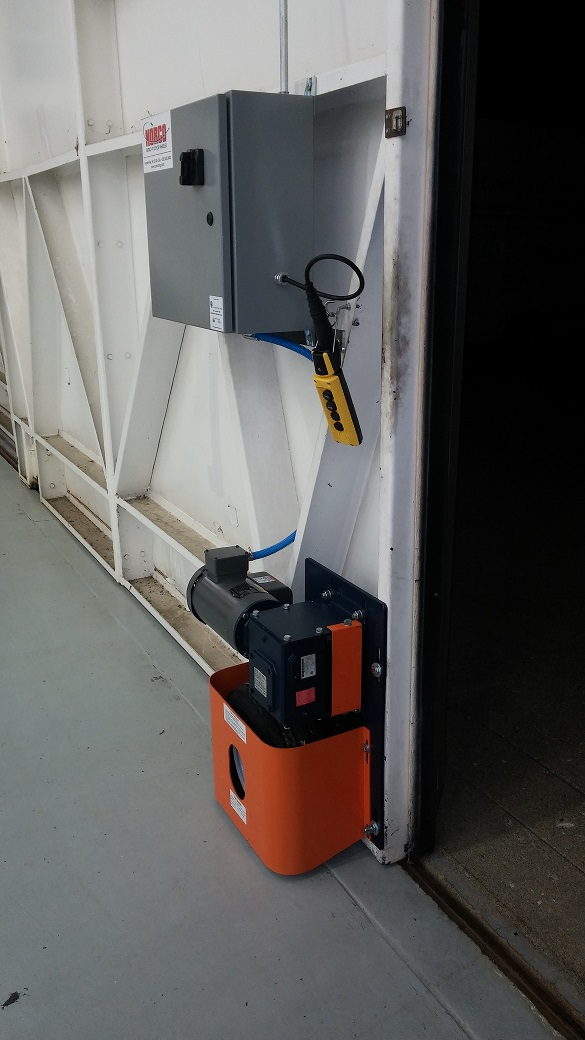 Norco Hangar Door Retrofit - Electric Door Wheeler ... & Norco Electric Door Wheelers | Norco Manufacturing