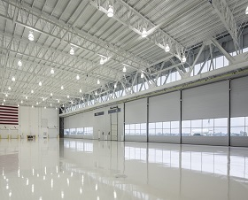 Hangar - Interior Glass Window Openings