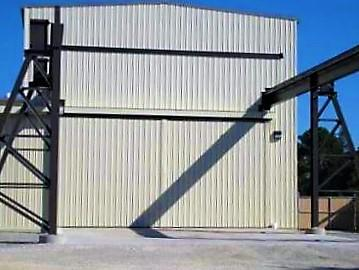 Rolling Door System with Top Hinged Crane Door